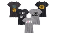 Instant Message Women's Dog Mom Life is Ruff Tee. Plus Sizes Available