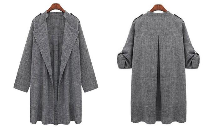 Damen Mantel im Oversize Design   Groupon