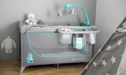 Kinderkraft Travel Cot with Optional Accessories With Free Delivery