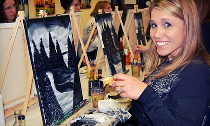 Picasso's Corner - Pleasantville: BYOB Painting Class for One, Two, or Four Adults at Picasso's Corner (Up to 52% Off)
