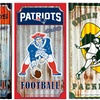 NFL Corrugated Metal Wall Art