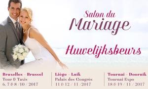 Le Salon du Mariage: Ticket duo pour le Salon du Mariage 2017 à Bruxelles, Liège et Tournai entre le 6 octobre et 19 novembre à 7,99€