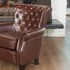 Shafford Tufted Leather Club Chair