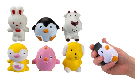 Three or Six PMS International Squishies SlowRise Animals