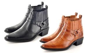 Bottines style Western Homme