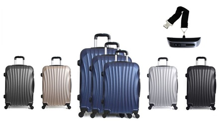5f70fc05a3bb0 ThreePiece Moscou Trolley Suitcase Set with Luggage Scale With Free Delivery