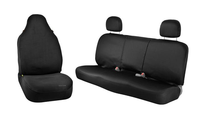 11 off on bench or bucket seat covers livingsocial shop. Black Bedroom Furniture Sets. Home Design Ideas