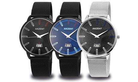 Reloj para hombre Akzent con correa de malla
