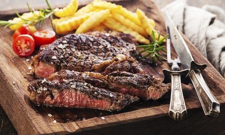 Menú básico o Premium para 2 o 4 con entrante, principal, postre, botella de vino y/o copa desde 15,95 € en Mustang