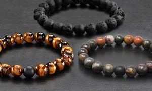 1, 2 ou 3 bracelets extensibles en pierres naturelles