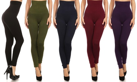 Women's High-Waisted High-Compression Leggings (3-Pack)
