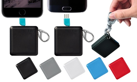 Square Keychain 1200mAh Power Banks in Choice of Colour