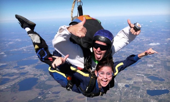 Florida Skydiving Center - Lake Wales: Tandem Skydive for One or Two from 14,000 Feet with a T-shirt from Florida Skydiving Center (Up to 43% Off)
