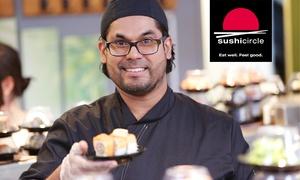 Sushi Circle: Wertgutschein in Höhe von 10 € anrechenbar auf die gesamte Speisekarte von Sushi Circle
