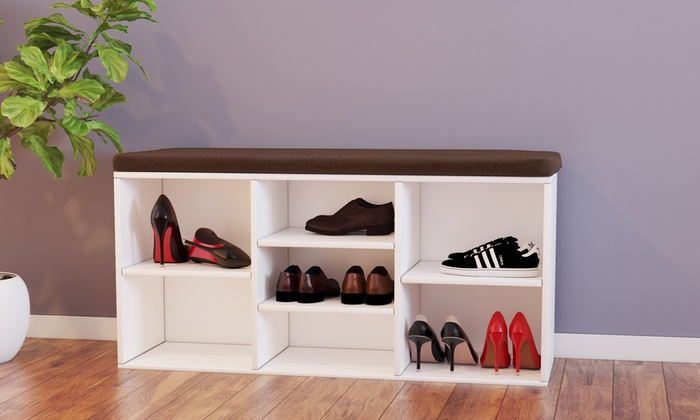 banc range chaussures modro blanc groupon shopping. Black Bedroom Furniture Sets. Home Design Ideas