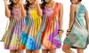 Sommer-Kleid mit Rundhalsausschnitt für Damen