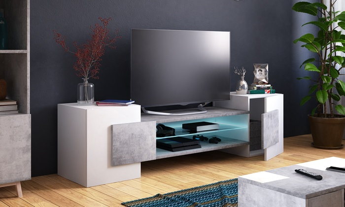 meuble tv charles groupon. Black Bedroom Furniture Sets. Home Design Ideas