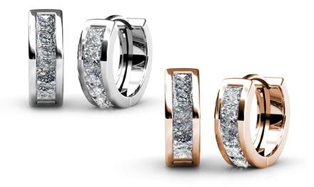 Pendientes de aro decorados con cristales de Swarovski®