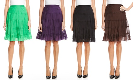 Studio West Tiered Knee-Length Skirt | Brought to You by ideel
