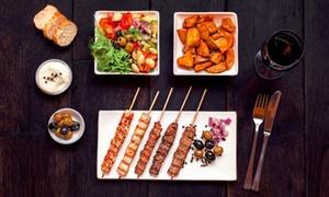 Spiesserei: 3-Gänge-Menümit Spießvariationen, opt. vegetarisch, für zwei Personen in der Spiesserei (bis zu 49% sparen*)
