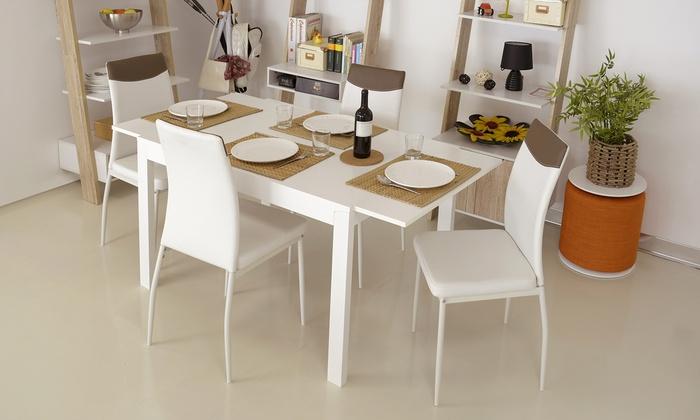 Set tavolo e 4 sedie Ice | Groupon Goods