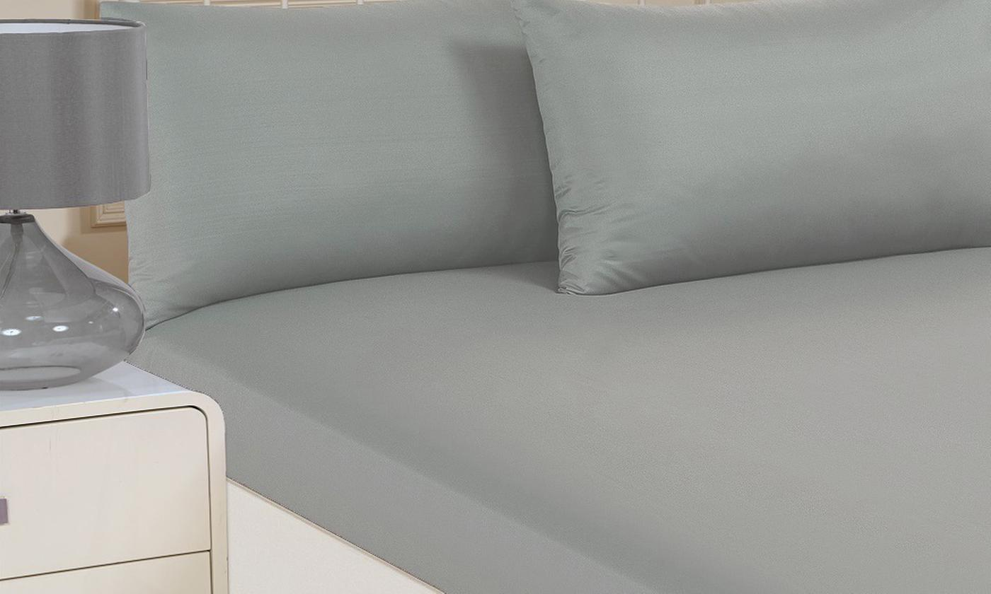 Plain Dye Microfibre Fitted Sheet for £5.99
