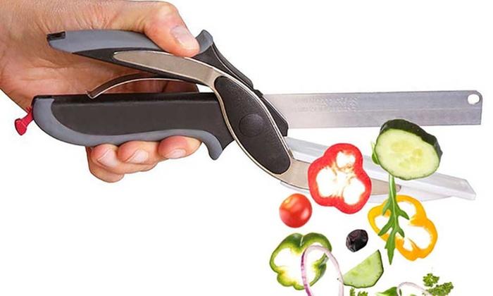 Forbici e coltello da cucina 2 in 1