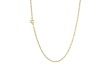 Unisex Singapore Chains in Solid 14K Gold