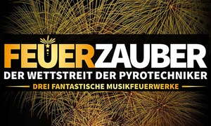 """Feuerzauber Wettbewerb: Ticket für """"Feuerzauber - der Wettstreit der Pyrotechniker"""" mit Bonuspaket in Oberhausen oder Braunschweig (47% sparen)"""