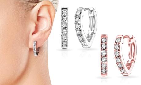 1 o 2 pares de pendientes Philip Jones para mujer adornados con 12 piedras Swarovski®