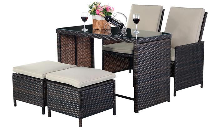 Up To 42% Off Rattan Garden Furniture Set   Groupon