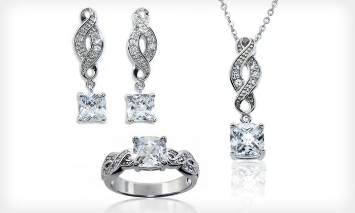 3-Piece Cubic Zirconia Infinity Jewellery Set: $18.99 for 3-Piece Cubic Zirconia Infinity Jewellery Set ($99.99 List Price)