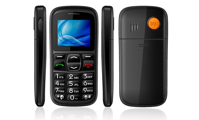 Teléfono para personas mayores con botón de SOS por 24.95 € (50% de descuento) con envío gratuito