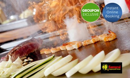 Samurai Six-Course Selection Set: 1 ($49) , 2 ($98) or 4 People ($196) at Samurai Teppanyaki House (Up to $396 Value)