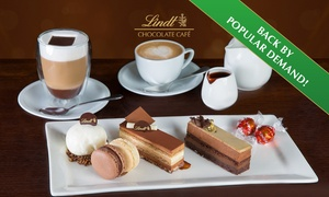 Lindt Chocolate Café: Lindt Chocolate Café Cake Platter with Hot Drinks for Two People for $19.99 - Choice of 5 Locations (Up to $48.50 Value)