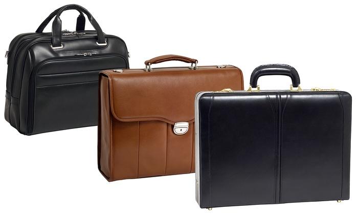 McKlein Full Grain Leather Briefcase