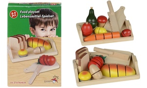 Légumes à couper en bois