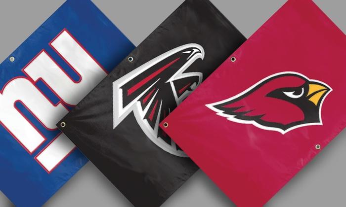NFL Fan Banner: NFL Fan Banner. Multiple Teams Available. Free Returns.