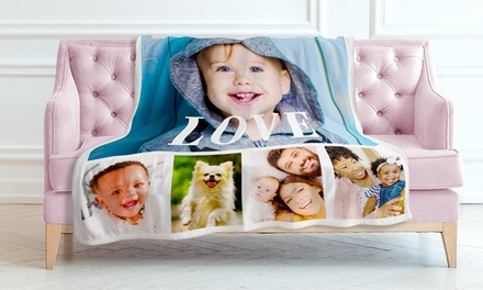 Personalized Premium Fleece Photo Blankets from Printerpix (Up to 94% Off). 15 Options Available.