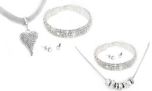 (Bijou)  Parure fabriquée avec des cristaux Swarovski® -79% réduction