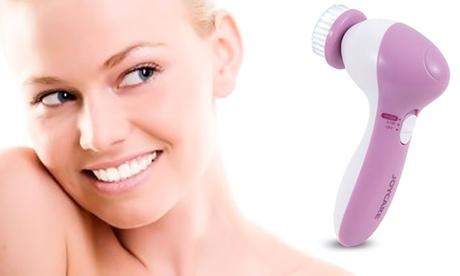 Limpiador facial 4 en 1 de la marca Joycare con cabezales giratorios Oferta en Groupon