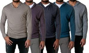 Next Level Apparel Men's Tri-Blend Long-Sleeve Hoodie