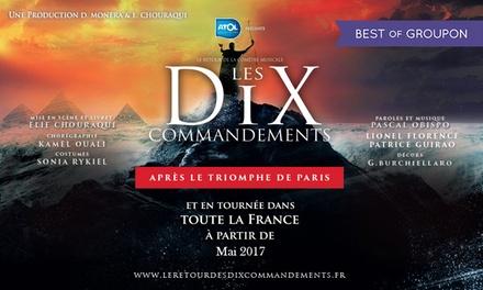 1 place au choix pour le retour du spectacle « Les 10 Commandements » le 12 mai 2017 dès 30 € à Montpellier