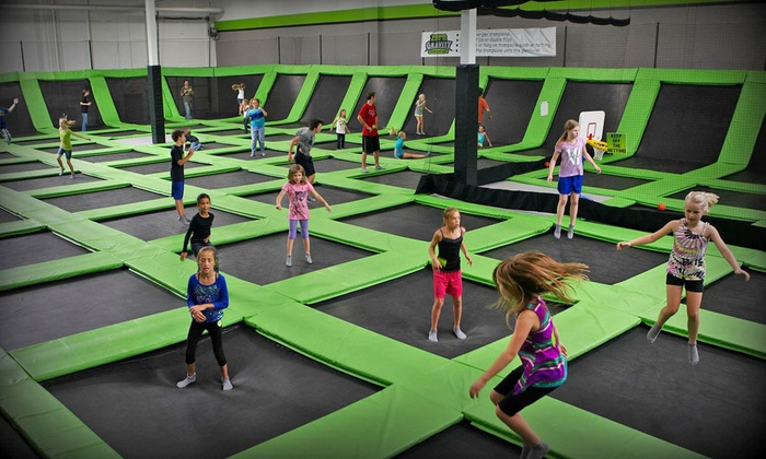 Zero Gravity Trampoline Park - Mounds View: $12 for One-Hour Bounce Passes for Two at Zero Gravity Trampoline Park ($24 Value)