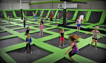 One-Hour Bounce Passes for Two with Optional Laser Tag at Zero Gravity Trampoline Park (Up to 50% Off)