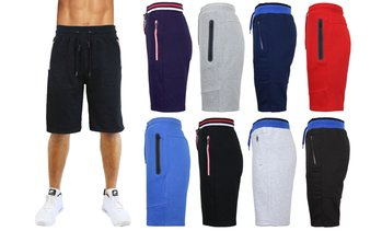 Men's Fleece Lounge Sweat Shorts w/ Zipper Pockets (S-XL)