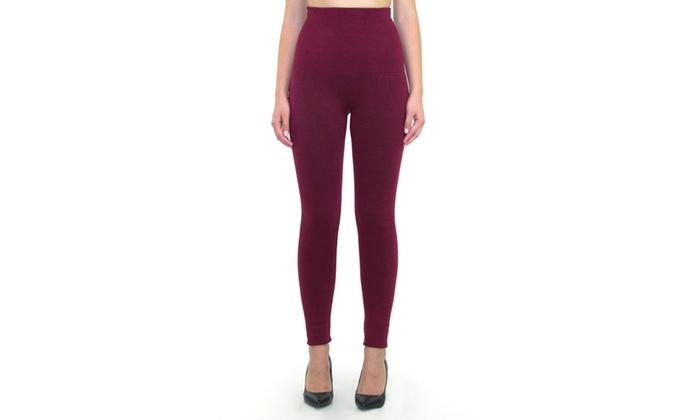 3206e40331 Women's Empire Waist Tummy Compression Control Top Leggings | Groupon