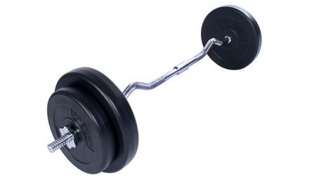 Bilanciere con pesi 30 kg con maniglia ergonomica Physionics
