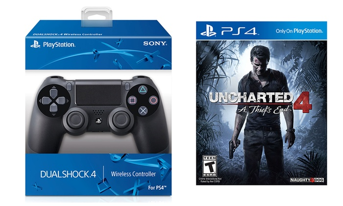 Uncharted 4 And Ps4 Controller Groupon Goods