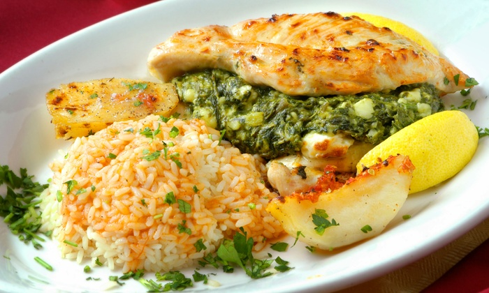 The Parthenon - Greektown: $55 for a Five-Course Greek Meal for Two at The Parthenon ($92 Value)
